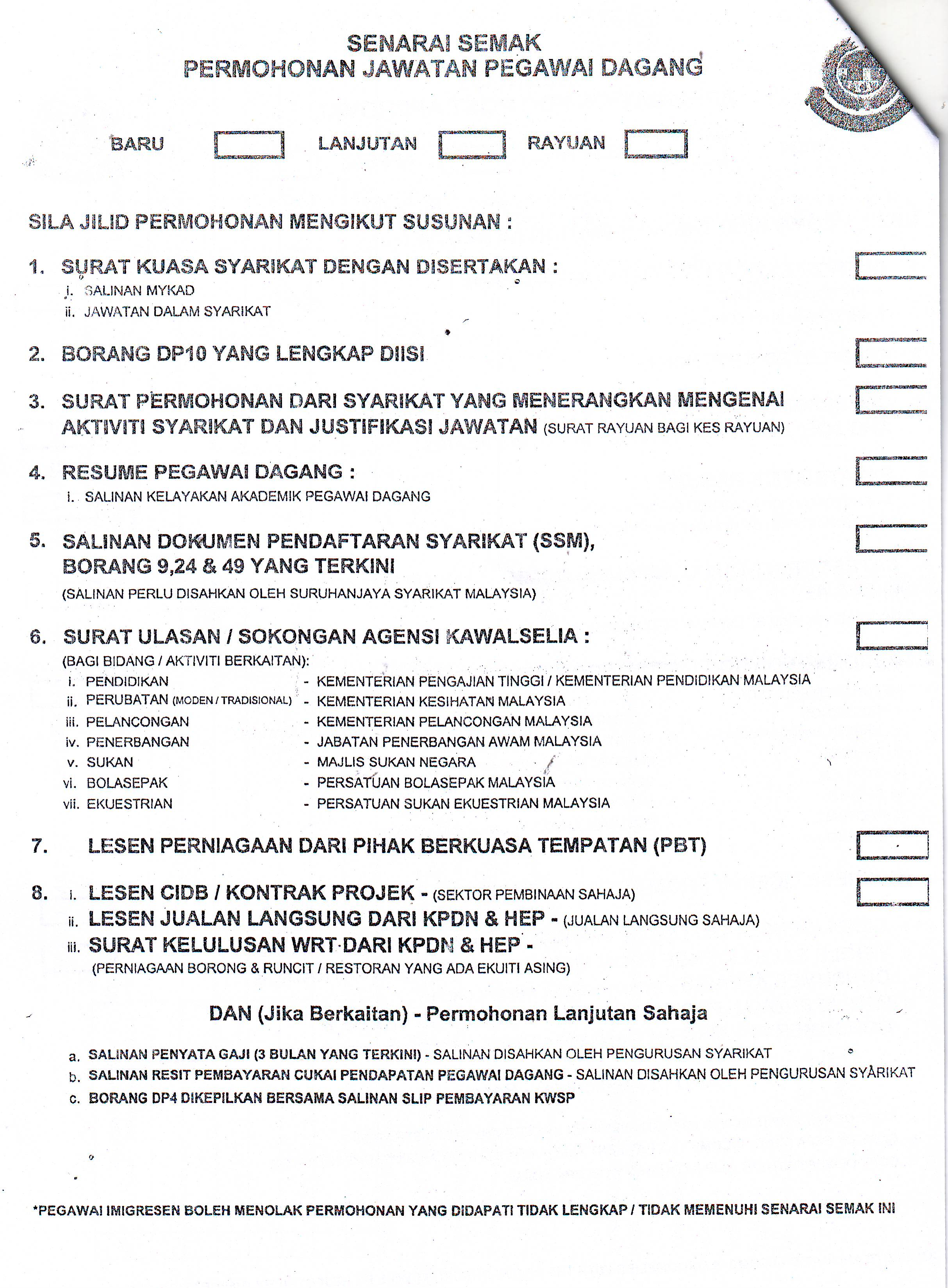 Application Forms Expatriate Information In Malaysia Andaraya M
